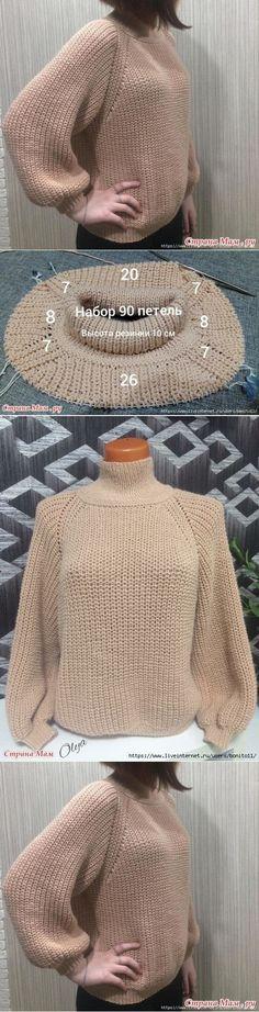 Sweater Knitting Patterns, Knit Patterns, Sewing Patterns, Bobble Crochet, Crochet Hats, Cross Stitch Rose, Crochet Handbags, Knit Fashion, Crochet Clothes