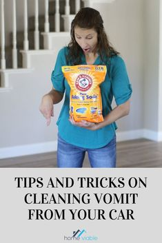 Vomit can be very difficult to clean inside the car. Check out this ways on how to clean vomit from your car and get rid of any stains and smells. #homeviable #carcleaning #cleaningguide #cleanvomit Cleaning Spray, Car Cleaning, Cleaning Hacks, Cleaning Leather Car Seats, Clean Car Seats, Vinegar Cleaning Solution, Cleaning Solutions, All Natural Cleaning Products, Washing Towels