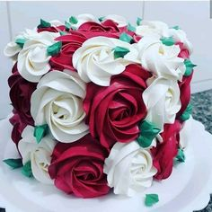 Cake Decorating Designs, Cake Decorating For Beginners, Cake Decorating Techniques, Cake Designs, Cookie Decorating, Fancy Cakes, Cute Cakes, Pretty Cakes, Beautiful Cakes