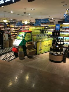Great display of PALLINI Limoncello at Rome airport
