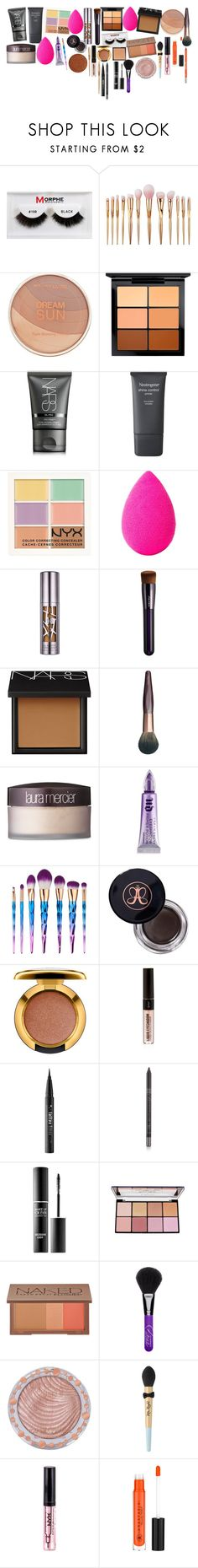 """aaa"" by rigormortisii ❤ liked on Polyvore featuring beauty, Morphe, Maybelline, MAC Cosmetics, NARS Cosmetics, Neutrogena, NYX, beautyblender, Urban Decay and Shiseido"