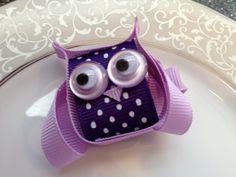 Purple Owl Hair Bow Clip  Toddler Hair Clip  by katelynnskloset, $5.50