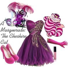 """A Masquerade: The Cheshire Cat"" by helsingmusique on Polyvore"