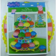 3 Tier Cupcake Stand $21.95 A010775 3 Tier Cupcake Stand, Cupcake Tree, Peppa Pig Party Supplies, Wholesale Party Supplies, Printed Balloons, Birthday Parties, Stand 21, Cake Decorations, Character