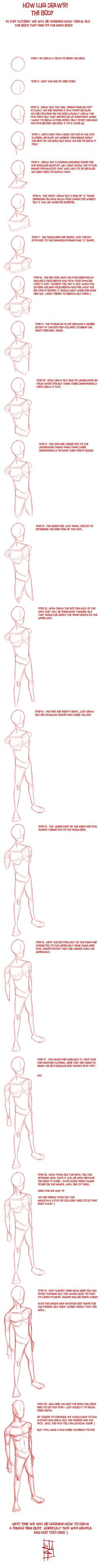Tutorial male body by luigil
