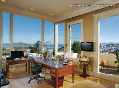 Beautiful office overlooking the city of San Francisco