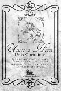 Unicorn Horn Label