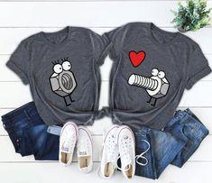 Funny Couple Shirts, Matching Couple Shirts, Couple Tshirts, Funny Couples, Matching Couples, Cute Shirts, Funny Shirts, T Shirt Logo Design, Couple Pajamas