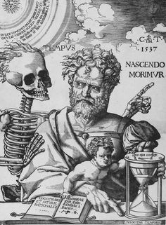 "deathandmysticism: ""Cornelis Anthonisz, Nascendo Morimur, 1537 "".  [Holy Cow - this looks just like Zach Galafianakis to me!]"