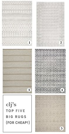 5 BIG, Area Rugs for Cheap (And the one we chose for the Living Room!) - Chris Loves Julia