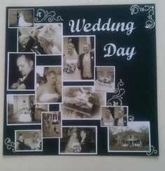 wedding day - Scrapbook.com. I love the layout of this page. It could be used for a variety of topics.