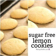 The easy recipe for Easy Sugar Free Lemon Cookies Diabetic Cookie Recipes, Sugar Free Cookie Recipes, Sugar Free Deserts, Diabetic Friendly Desserts, Sugar Free Baking, Sugar Free Sweets, Sugar Free Cookies, Lemon Cookies, Diabetic Foods