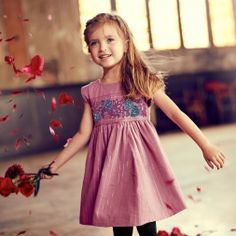 La Ventana Embroidered Dress Little Girls   Tea Collection