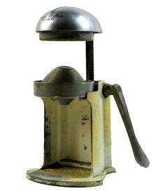 Antique Juicer 1905 Juice-O-Mat Juicer Cast Iron by PlumsandHoney