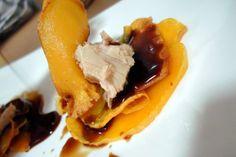 Chips de calabaza con bonito del norte de Conservas Serrats