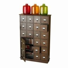 Love the card catalogue look...  For my inner library nerd.