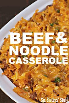 easy casserole recipe - beef and noodle casserole Egg Noodle Casserole, Beef Casserole Recipes, Beef Recipes, Cooking Recipes, Ground Beef Noodle Casserole, Recipies, Hamburger Recipes, Potato Casserole, Quick Recipes
