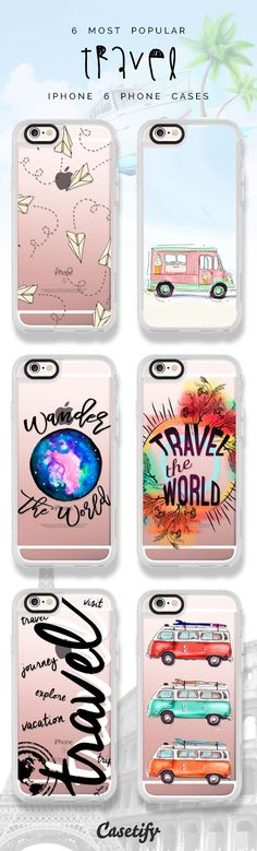 6 most popular travel iPhone 6 protective phone case designs | Click through to see more iPhone phone case ideas >>> https://www.casetify.com/artworks/Z9ycYtf6cj #wanderlust | @casetify #PhoneCase