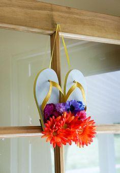 Flip Flop Wreath Crafts Amp Amp Diy Flip Flop Wreaths Wreath Crafts Diy Wreath