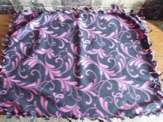 Pink & Black Fleece Dog Chew Blanket  large by PamperedPupsBakery, $8.00