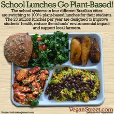 Four different cities in the Bahia region of Brazil – Serrinha, Barroca, Teofilandia and Biritinga – all are transitioning their school lunch menus to 100% plant-based by the end of 2019. Links to stories at: veganstreet.com/dailymeme-4-3-18.html