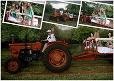 Farm wedding entrance