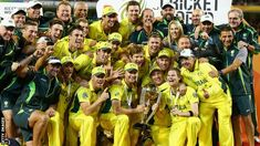 well played lads - Australia celebrate with Cricket World Cup trophy