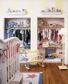 Habitación de bebe armario-gemelos