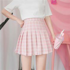 Cute Pastel Outfits Ideas That Always Looks Great 45 Harajuku Fashion, Kawaii Fashion, Cute Fashion, Fashion Outfits, Pastel Skirt, Pastel Outfit, Cute Casual Outfits, Pretty Outfits, Pink Skirt Outfits