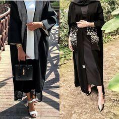 Abaya Fashion, Modest Fashion, Fashion Outfits, Abaya Pattern, Modern Abaya, Modele Hijab, Black Abaya, Abayas, Hijab Outfit