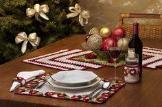 AS RECEITAS DE CROCHÊ: Jogo de mesa para o Natal