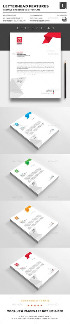 Minimal Corporate Business Letterhead Bundle Minimal, Print - business letterhead