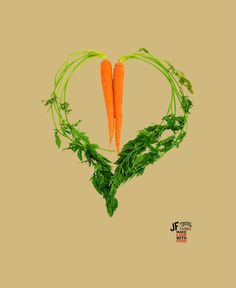 Carrot Heart Canvas Painting by JF Organic Farms