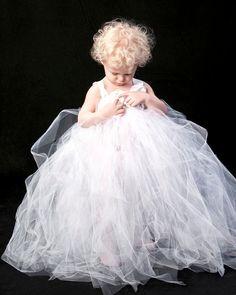 Tutu Dress White flower girl tutu dress by pinkgiraffebowtique, $64.95