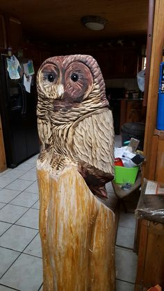 Owl by Collins carvings