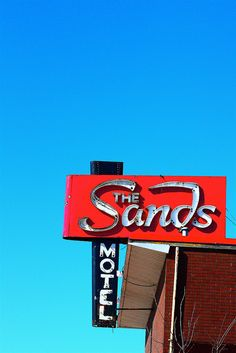 The Sands Motel by liz.hop, via Flickr - Love old hotel signs