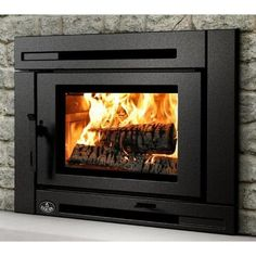 Osburn Matrix Wood Burning Insert – Jean N. Pryor Home Fireplace Blower, Stove Fireplace, Fireplace Ideas, Cottage Fireplace, Fake Fireplace, Shiplap Fireplace, Fireplace Remodel, Wood Burning Stove Insert, Wood Burning Fires