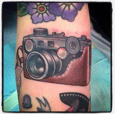My Traditional camera tattoo