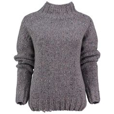 Grey made in the uk cashmere funnel neck jumper by lowie ($309) ❤ liked on Polyvore featuring tops, sweaters, grey cashmere sweater, grey sweater, gray sweater, funnel sweater and cashmere jumpers