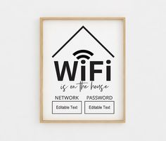 Check out our scandinavian art selection for the very best in unique or custom, handmade pieces from our prints shops. Scandinavian Modern, Wifi Password Printable, Bedroom Decor, Wall Decor, Guest Room Decor, Bedroom Door Signs, Sign Templates, Circuit Projects, Guest Bedrooms