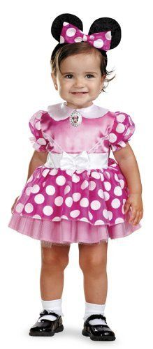Minnie Mouse Clubhouse - Pink Minnie Mouse Infant Costume 12-18 Months by Disguise. $20.78. polyester. Size: Infant (Fits most 12-18 mos.). Includes: a dress with character cameo and matching headband.. Shoes and socks not included.. Save 41% Off!