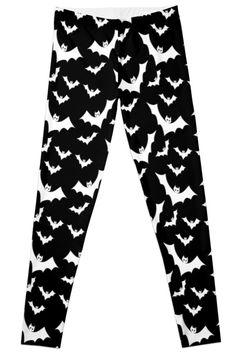 Pastel Goth Vampire Bats (Black / White) by PastelGoth