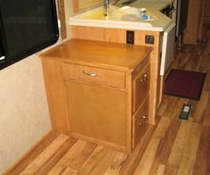 Our Computer Desk makes a great addition to any RV Includes file cabinet and trays for printer/cpu and keyboard or laptop. Desks For Small Spaces, Filing Cabinet, Storage, Furniture, Home Decor, Purse Storage, Decoration Home, Room Decor, Larger