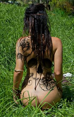 ஒ #dreads #tattoos