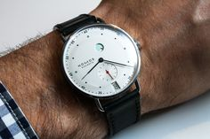 """Nomos Glashütte Metro Watch Hands-On - by James Stacey - See more Metro, read about Nomos' daring new in-house assortiment, the """"Swing System"""" - """"Nomos is a small German brand that is hell-bent on doing things their own way. They have a unique style derived from the Deutscher Werkbund movement and Bauhaus aesthetic and, since their birth shortly after the fall of the Berlin wall, they have stuck to their principles and developed an identify..."""" #ABTWBaselworld2014"""