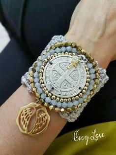 Fabric Jewelry, Diy Jewelry, Beaded Jewelry, Handmade Jewelry, Fashion Jewelry, Jewelry Making, Beaded Bracelets, Hermes Jewelry, Leather Jewelry