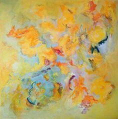 Simoun 100x100cm : peinture à l'huile sur toile