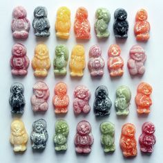If Jelly Babies aren't the creepiest candy you've ever seen then you've never seen jelly babies, and this post leaves you only one option. Old Fashioned Sweets, Old Sweets, Sweets Photography, Jelly Babies, Pick And Mix, Gifts For Photographers, Candy Store, Unique Recipes, Food Art