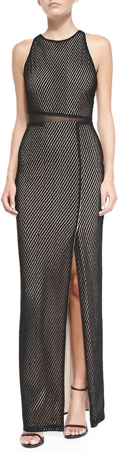 Alice + Olivia Ida Cross-Back Mesh Gown on shopstyle.com