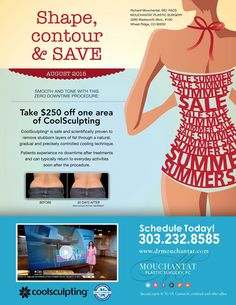 Shape, contour, and save in August!